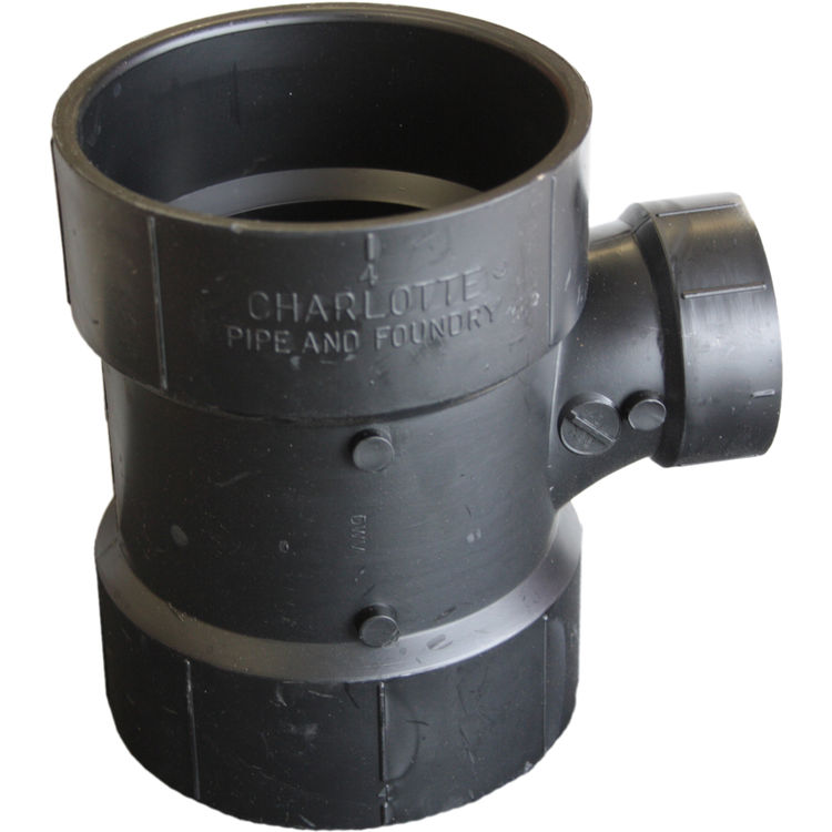 Commodity  4 x 4 x 2 Inch ABS Sanitary Tee, ABS Construction