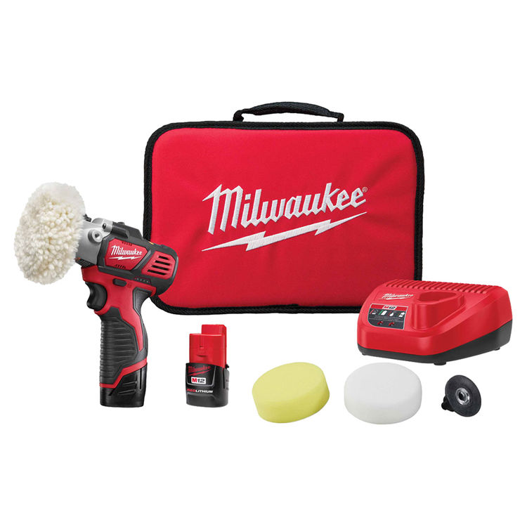 View 2 of Milwaukee 2438-22 MILWAUKEE 2438-22 M12 VARIABLE SPEED POLISHER/SANDER CP/CP KIT