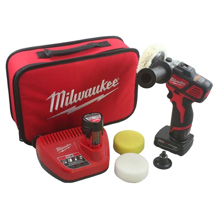 Milwaukee 2438-22X MILWAUKEE 2438-22X M12 VARIABLE SPEED POLISHER/SANDER XC/CP KIT