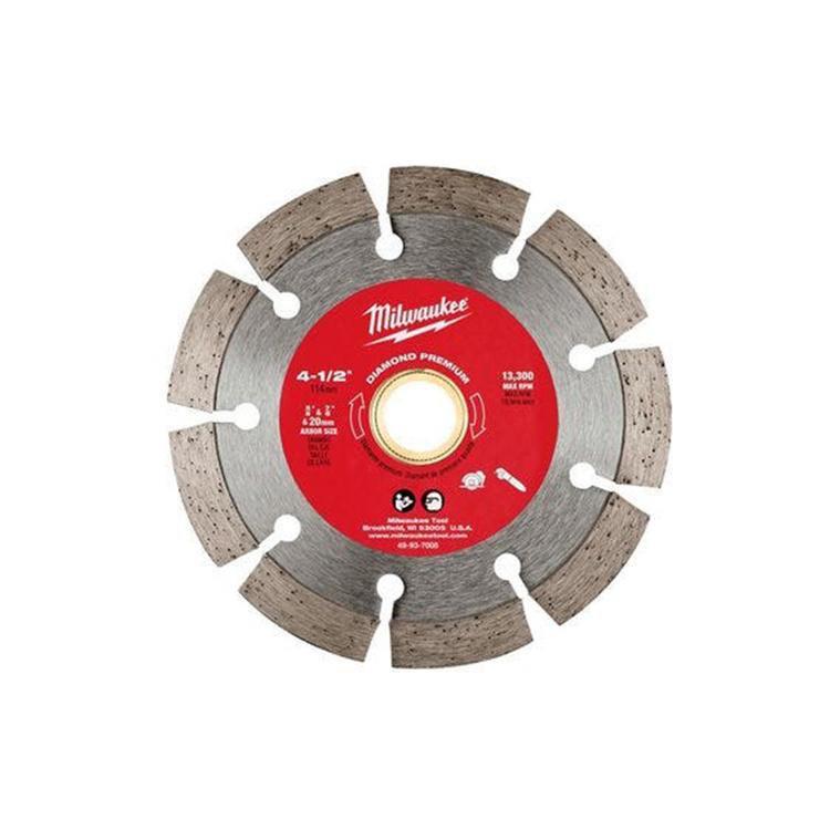 Milwaukee 49-93-7005 Milwaukee 49-93-7005 Diamond Premium Segmented Blade, 4–1/2