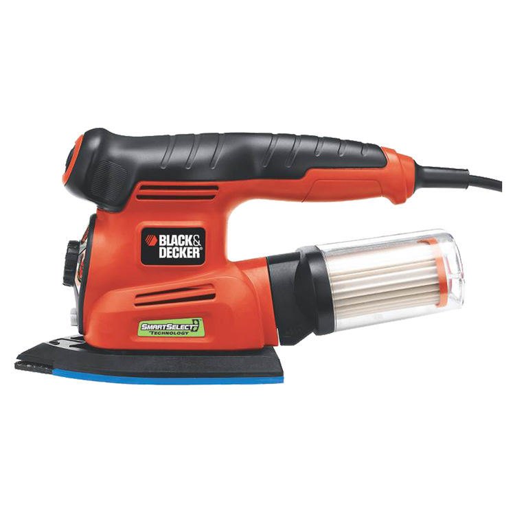 Black & Decker MS2000 SmartSelect MS2000 Corded Sander Kit, 2 A, 8500 opm