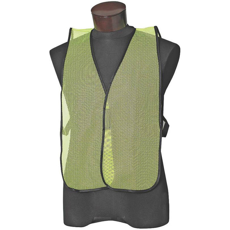 Jackson 3017586 Jackson ESK Economy Non-Reflective Standard Safety Vest With Cloth Binding, One Size Fits All, Lime