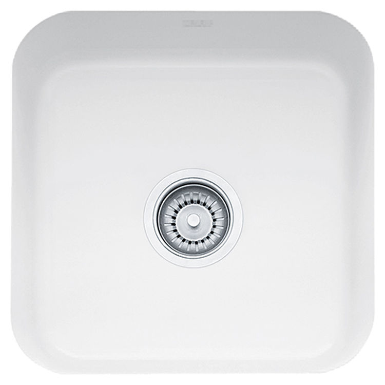 Franke CCK110-15WH Franke CCK110-15WH Single Bowl Undermount Fireclay Undermount Sink - White
