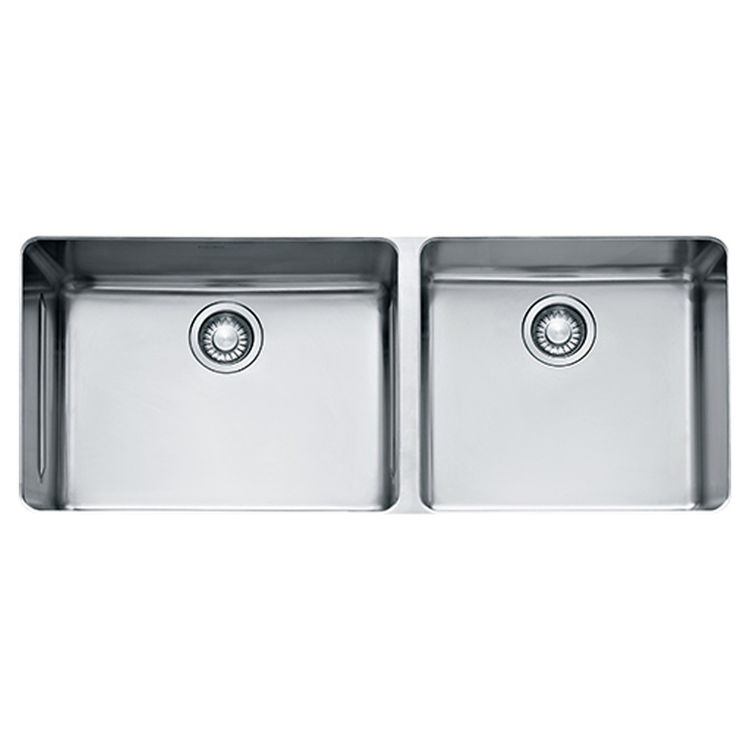 View 2 of Franke KBX12043 Franke KBX12043 Double Bowl Undermount Stainless Undermount Sink - Stainless