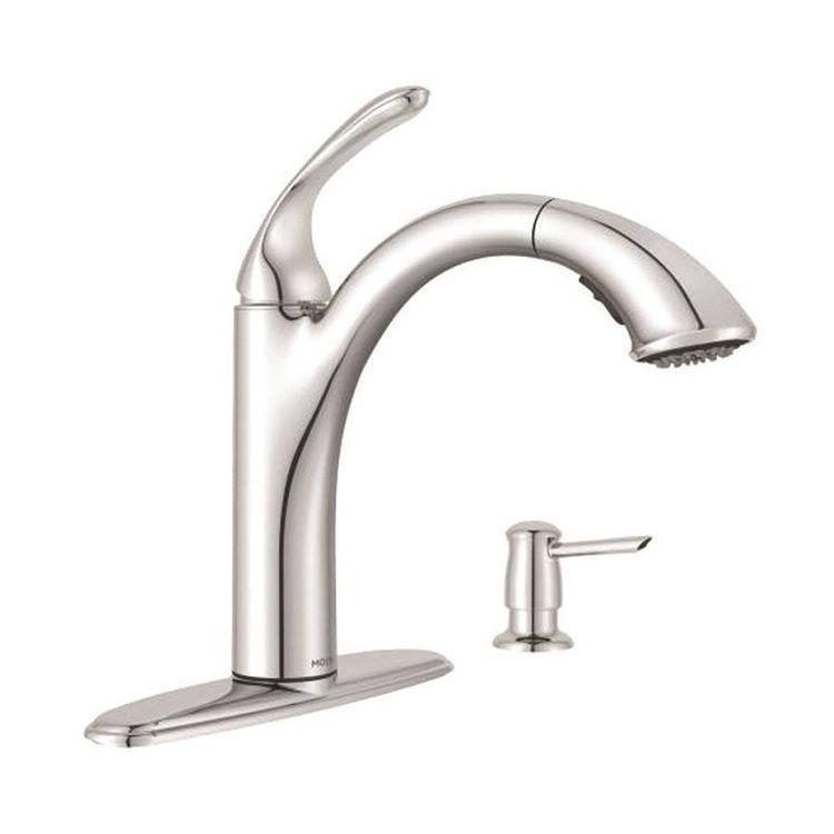 Moen 87035 Moen 87035 Kinzel One-Handle Low Arc Pullout Kitchen Faucet, Spot Resist Stainless