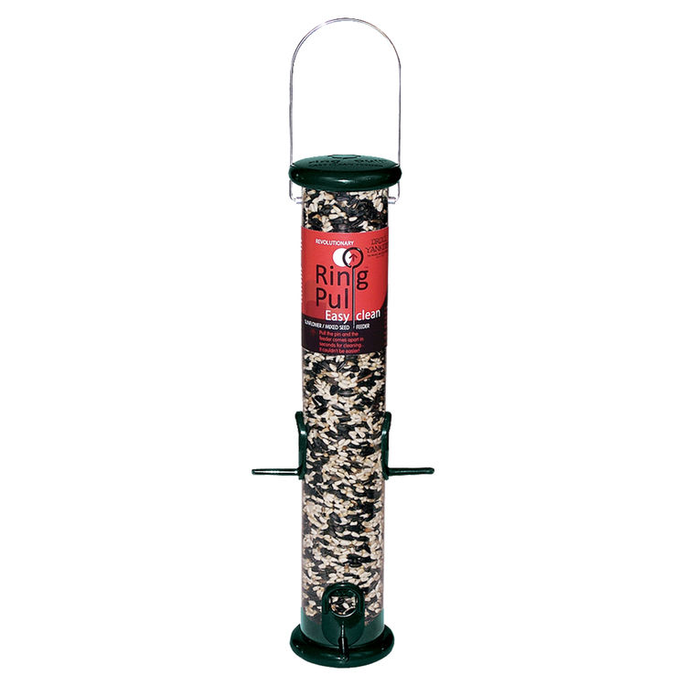 Droll Yankees RPS15G Droll Yankees RPS15G Ring Pull Sunflower/Mixed Seed Feeder, 1 lb Capacity 5-1/2 in W x 5-1/2 in L x 19 in H