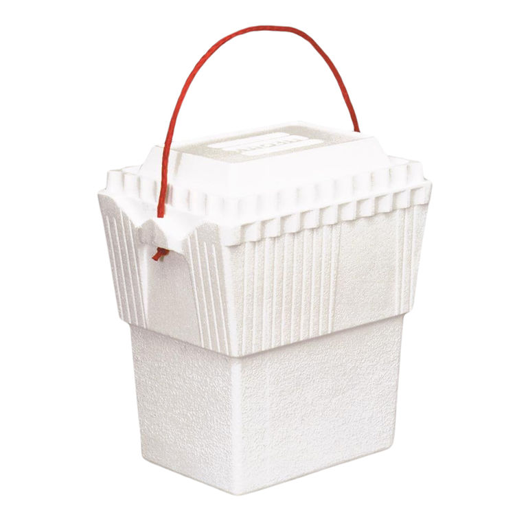 Lifoam 3417 Lifoam Industries 3417 Double Ice Chest With Poly Rope Handle, 12 qt, Styrofoam, White