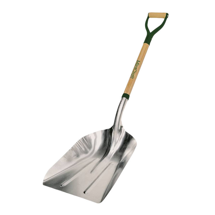 Mintcraft 33274 Mintcraft 33274 Grain Scoop Shovel, Aluminum, D-Grip Steel Handle