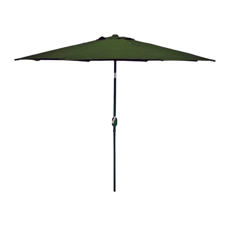 Seasonal Trends 63863 SEASONAL TRENDS 63863 Essential Crank Umbrella, 54.72 in L x 5.7 in W x 5.7 in H, Polyester, Green