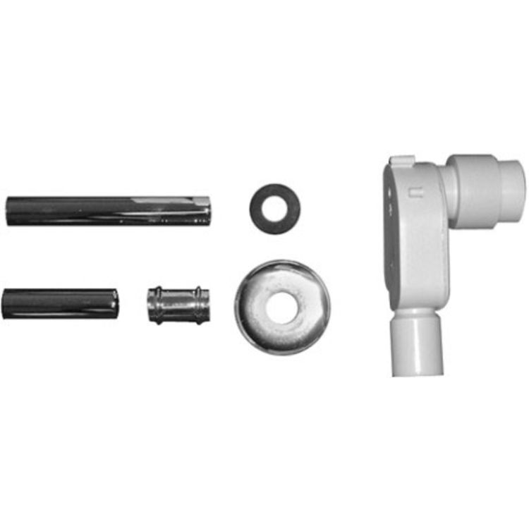 View 2 of Duravit 50441000 Duravit 0050441000 2nd Floor In-Wall Siphon Kit for Bathroom Architec H70 in Chrome