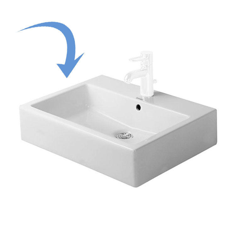 Duravit 0452500000 Vero 19 5 8 Quot Vessel Bathroom Sink With