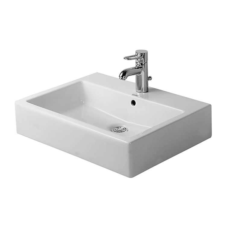 View 2 of Duravit 04546000271 Duravit 04546000271 Vero Wall-Mounted Porcelain Bathroom Sink  White