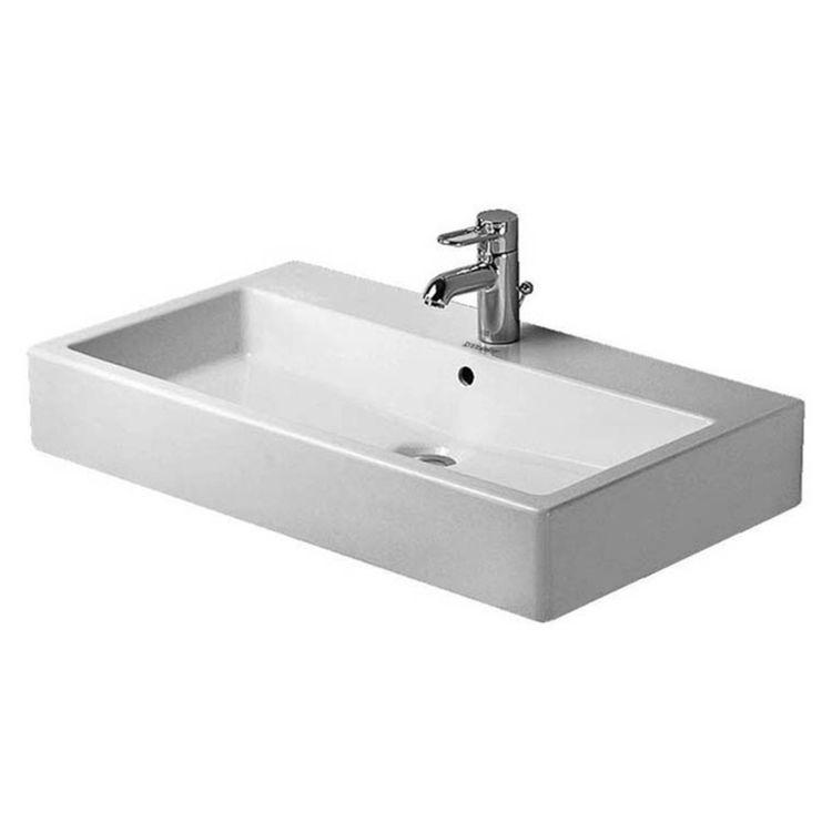 View 2 of Duravit 04548000001 Duravit 04548000001 Vero Wall Mount Porcelain Bathroom Sink - White