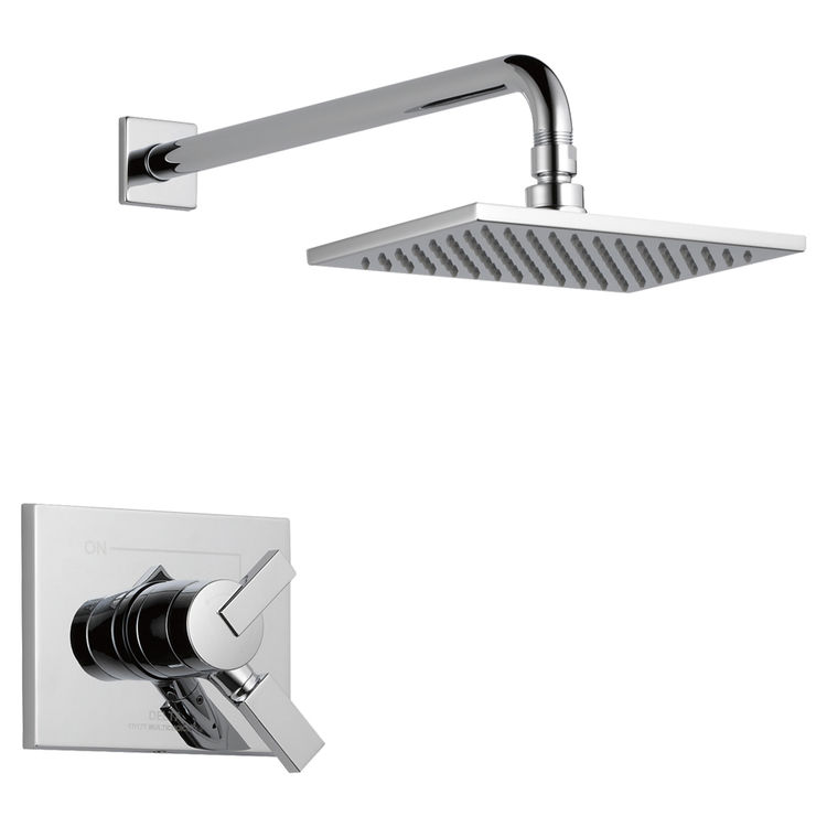 View 2 of Delta T17253-WE Delta T17253-WE Vero Chrome H2OKinetic Monitor Shower Trim Only