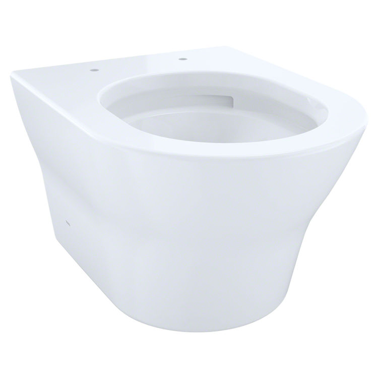 View 2 of Toto CT437FG#01 Toto MH Wall-Hung D-Shape Toilet Bowl Only, Cotton White - CT437FG#01