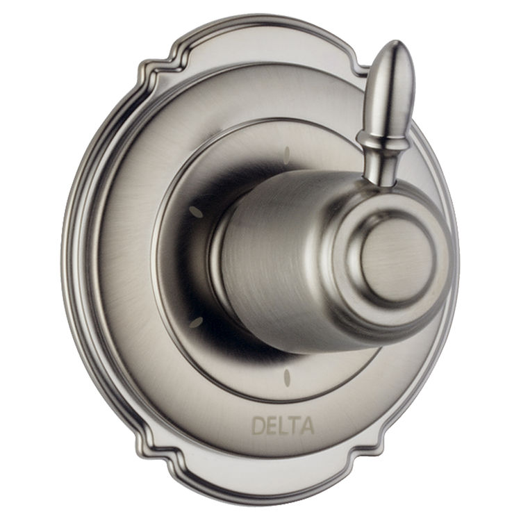 Delta T11955-SS Delta T11955-SS Victorian 6 Setting Diverter Trim (Stainless)