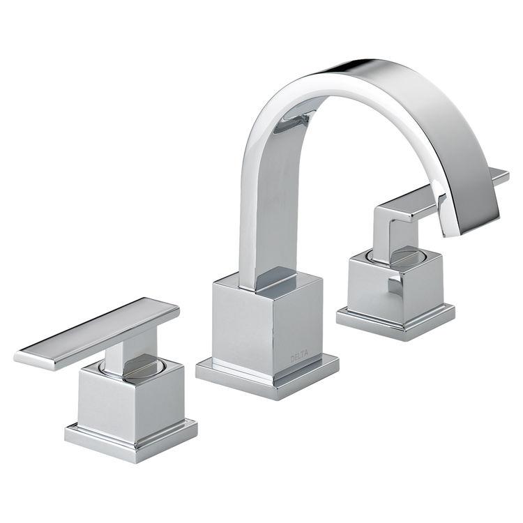 View 2 of Delta 3553LF Delta 3553LF Vero Widespread Two Handle Bathroom Faucet in Chrome