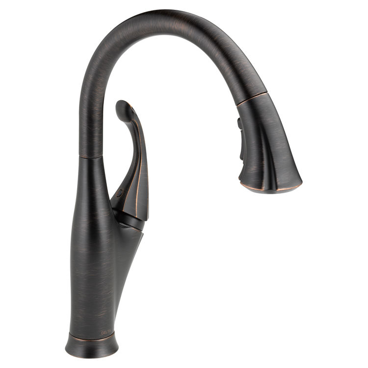 Delta 9192-RB-DST Delta 9192-RB-DST Addison Single Handle Pull-Down Kitchen Faucet w/ ShieldSpray - Venetian Bronze