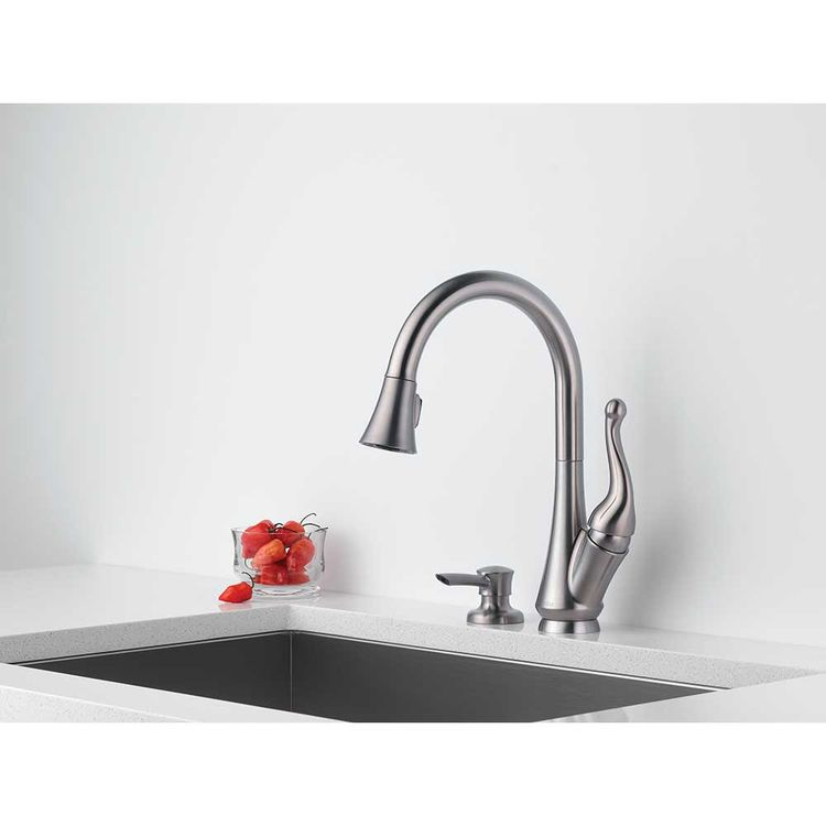View 5 of Delta 16968-SSSD-DST Delta 16968-SSSD-DST Talbott Stainless Kitchen Pulldown Faucet W/ Soap Dispenser