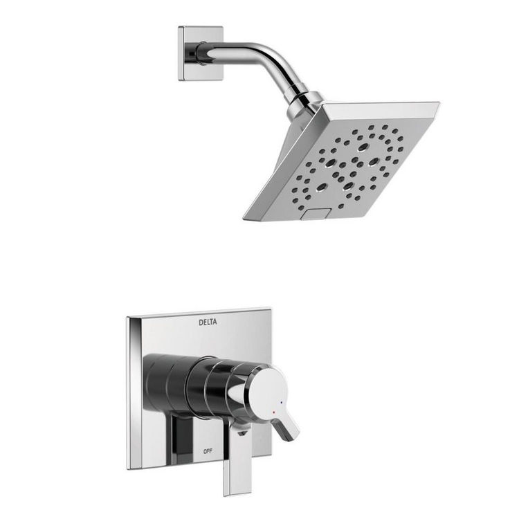 View 4 of Delta T17299 Delta T17299 Pivotal Monitor 17 Series H2Okinetic Shower Trim - Polished Chrome