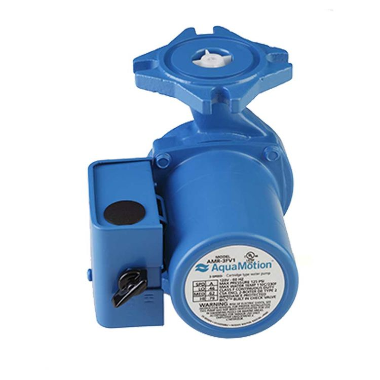 View 3 of Aquamotion AMR-3FV1 AquaMotion AMR-3FV1 Circulator Pump, 3 Speed with Check Valve, Cast Iron