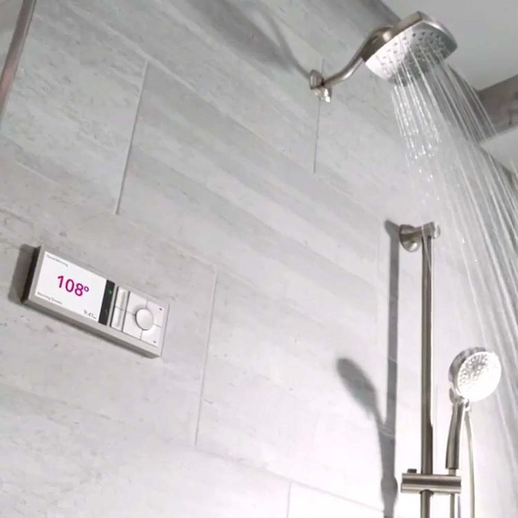 View 5 of Moen TS3302TB-KIT Moen TS3302TB-KIT U by Moen 2-Outlet Digital Shower System with Valve - Terra Beige