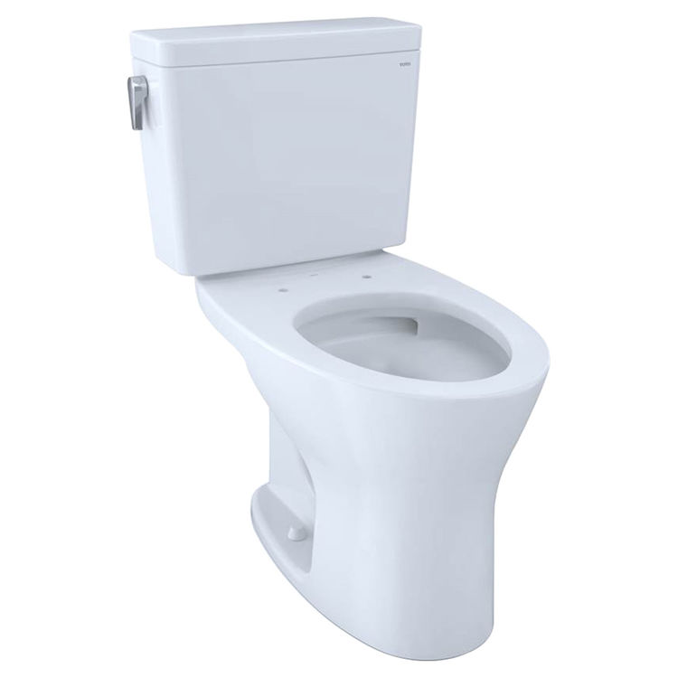 View 2 of Toto CST746CEMFG#01 TOTO Drake Two-Piece Elongated Dual Flush 1.28 and 0.8 GPF Universal Height DYNAMAX TORNADO FLUSH Toilet with CEFIONTECT, Cotton White - CST746CEMFG#01