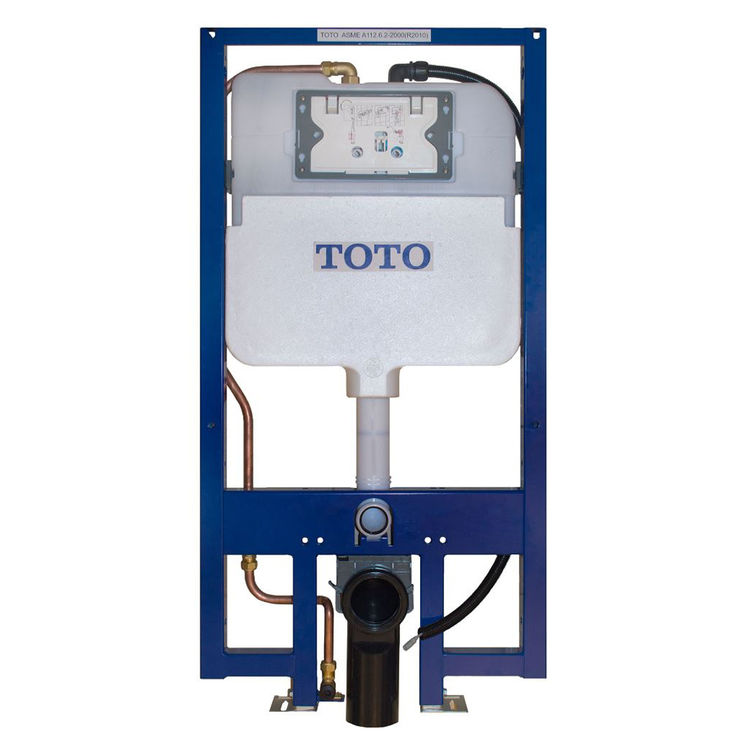 Toto WT173M TOTO DUOFIT In-Wall Dual Flush 1.28 and 0.8 GPF Tank System, Copper Supply Line - WT173M