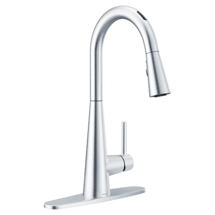 Moen 7864EVC Moen 7864EVC Sleek One-Handle Voice Activated Pulldown Kitchen Faucet - Chrome