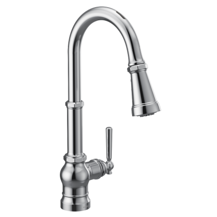 Moen S72003EVC Moen S72003EVC Paterson One-Handle Voice Activated Pulldown Kitchen Faucet - Chrome