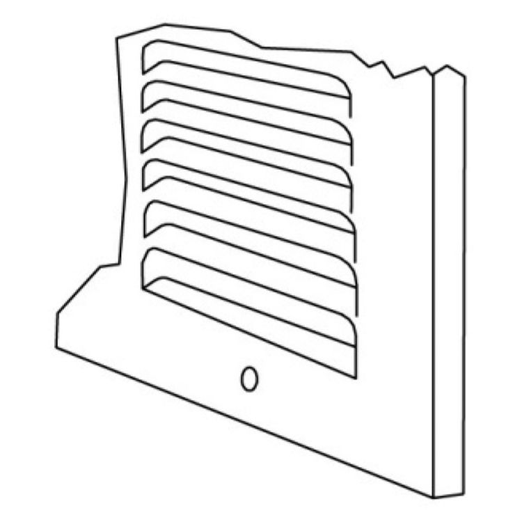 View 3 of Shoemaker 1150-30X10 30x10 Soft White Baseboard Return Air Grille (Steel) - Shoemaker 1150