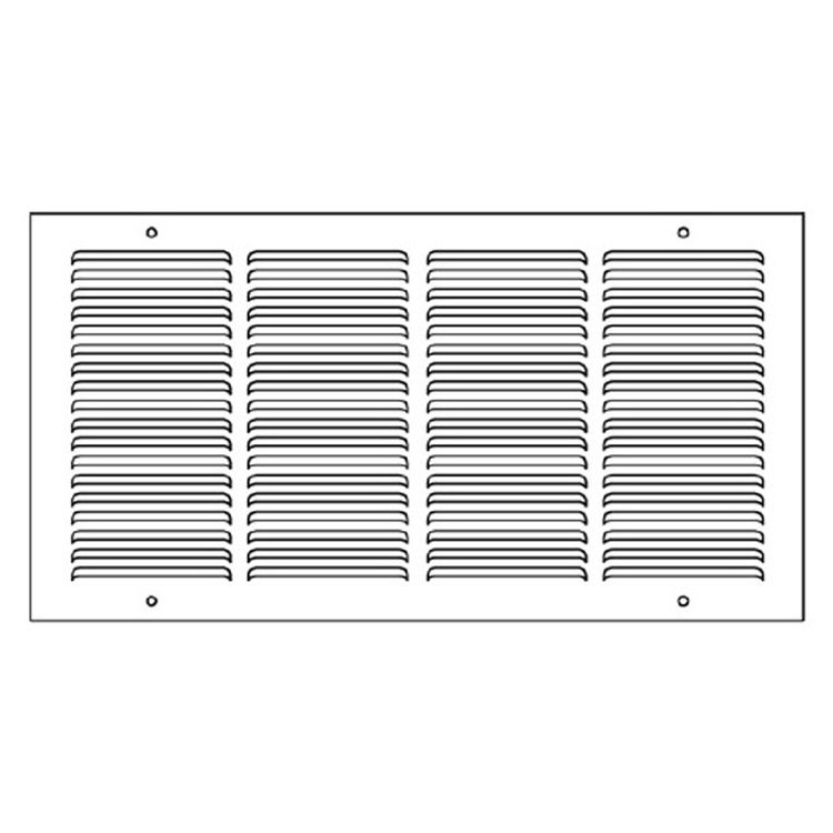 View 4 of Shoemaker 1050-30X10 30x10 Soft White Return Air Grille (Stamped from Cold Roll Steel) - Shoemaker 1050