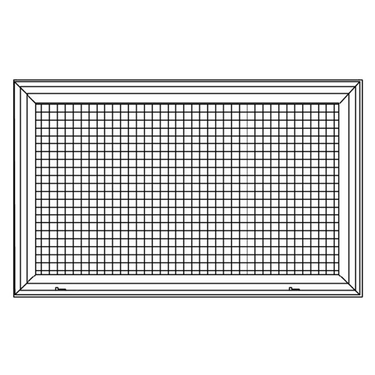 View 5 of Shoemaker 620FG1-12X8 12X8 Soft White Lattice Filter Grille with Steel Frame - Shoemaker 620FG Series
