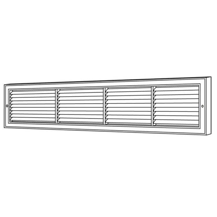View 6 of Shoemaker 1100-22X6 22x6 Soft White Deluxe Baseboard Return Air Grille (Aluminum) - Shoemaker 1100