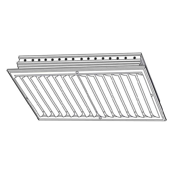 View 3 of Shoemaker CB20-10X10 10X10 Soft White Two-Way Adjustable Curved Blade Diffuser (Aluminum) - Shoemaker CB20