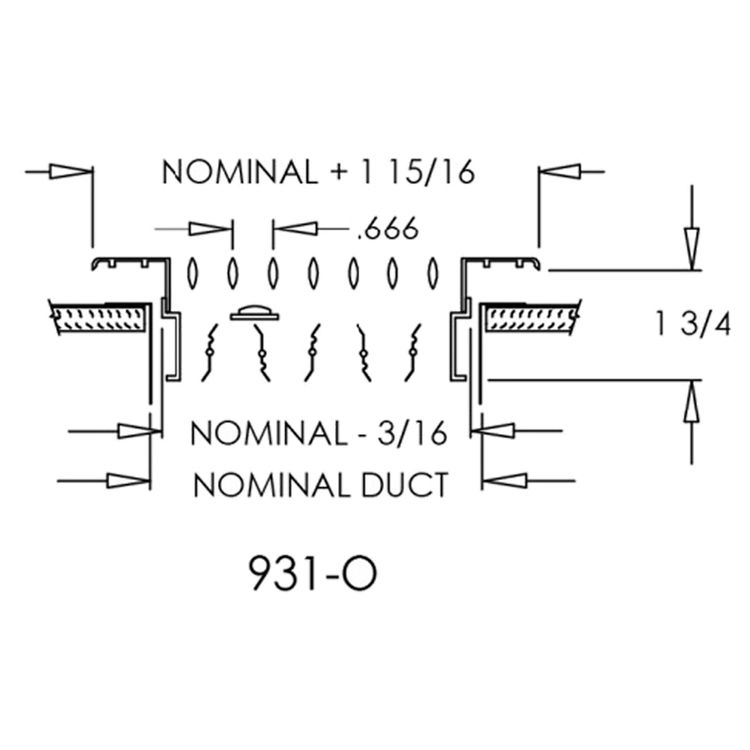 View 3 of Shoemaker 931-0-20X8 20X8 Soft White Steel Blade Single Deflection Diffuser Opposed Blade Damper - Shoemaker 931-0