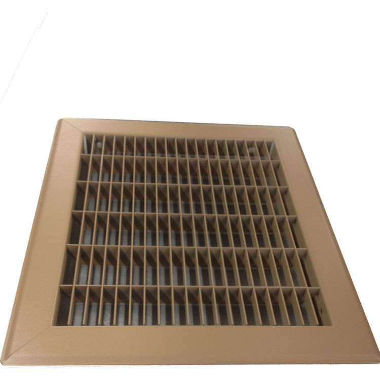 View 4 of Shoemaker 1600-R-18X18 18x18 Driftwood Tan Vent Cover (Steel Honeycomb Construction) - Shoemaker 1600R