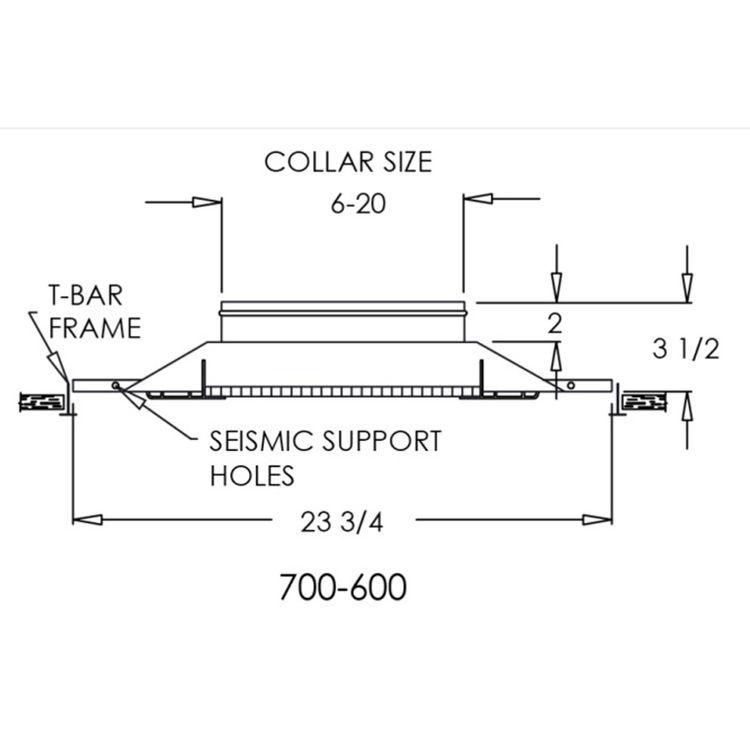 View 5 of Shoemaker 700-600-14X14-8 14X14-8 Soft White Lattice Return Air Grille in T-Bar Panel (Aluminum) - Shoemaker 700-600