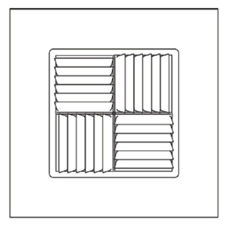 View 5 of Shoemaker 700MA-10X10-10 10X10-10 Soft White Modular Core Diffuser in T-Bar Panel - Shoemaker 700MA