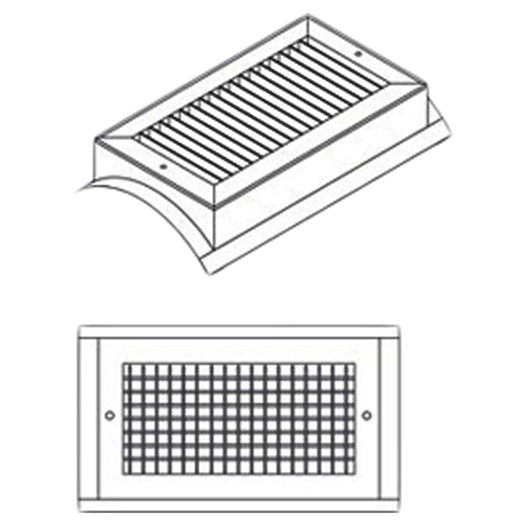 View 3 of Shoemaker SD34-0-24X6 24X6 White Vent Cover (Steel)-Shoemaker SD34-0 Series