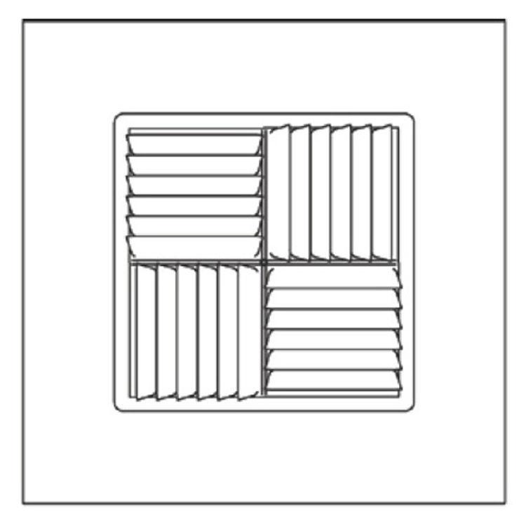 View 3 of Shoemaker 700MA-15X15-15 15X15-15 Soft White Modular Core Diffuser in T-Bar Panel - Shoemaker 700MA