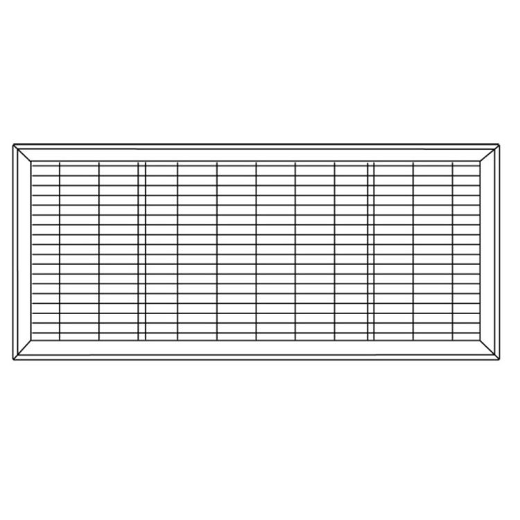 View 7 of Shoemaker 1600-R-18X34 18x34 Driftwood Tan Vent Cover (Steel Honeycomb Construction) - Shoemaker 1600R