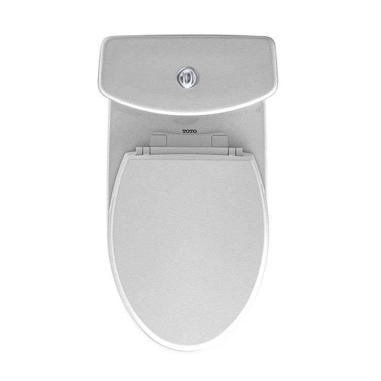 View 6 of Toto MS654114MF#11 TOTO Aquia One-Piece Elongated Dual-Max, Dual Flush 0.9 & 1.6 GPF Universal Height Skirted Toilet, Colonial White - MS654114MF#11