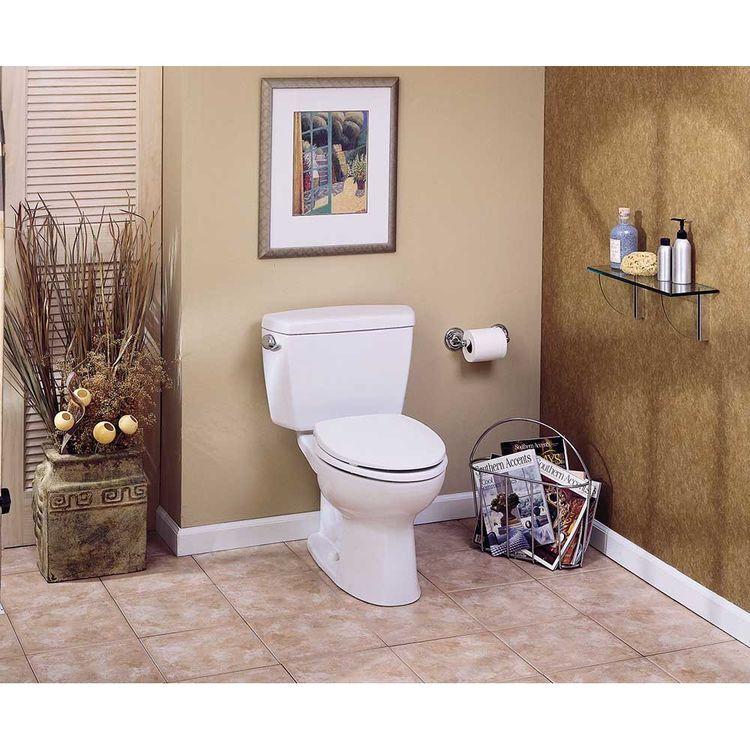 View 8 of Toto CST744S#01 TOTO Drake Two-Piece Toilet - 1.6 GPF , Elongated, Cotton White - TOTO CST744S#01