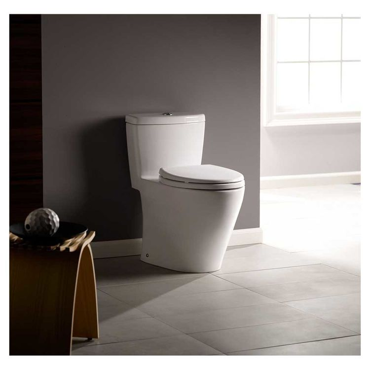View 4 of Toto MS654114MF#01 Toto MS654114MF#01 Aquia One-Piece Dual Flush Elongated Toilet, 1.6 GPF and 0.9 GPF - Cotton White