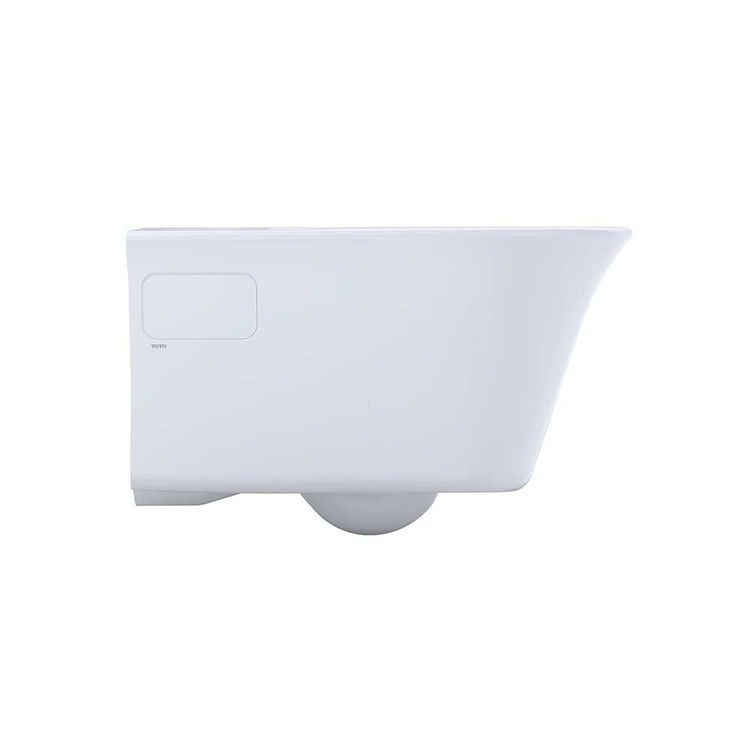 View 8 of Toto CT486FG#01 Toto Maris Wall-Hung Elongated Toilet Bowl with Skirted Design and CeFiONtect, Cotton White - CT486FG#01