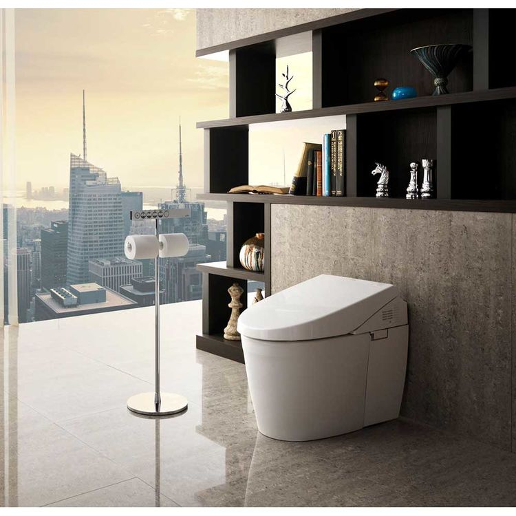 View 4 of Toto MS982CUMG#01 Toto Neorest 550H Dual Flush Toilet - 1.0 or 0.8 GPF, Cotton White - MS982CUMG#01