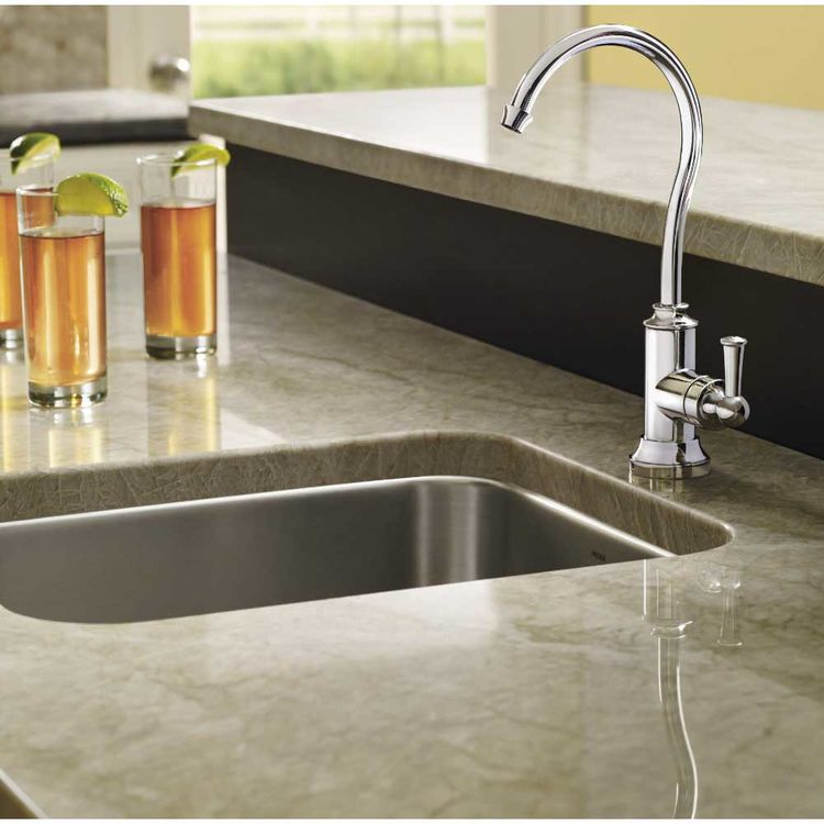 View 3 of Moen S5510 Moen S5510 Sip Traditional Chrome One-Handle High Arc Beverage Faucet