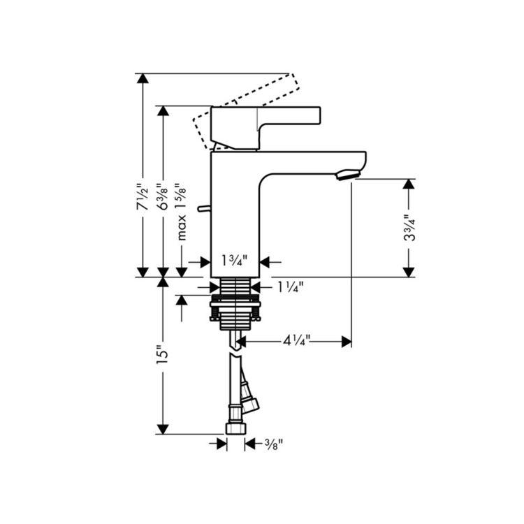 Hansgrohe 31060821 Metris Brushed Nickel Single Handle