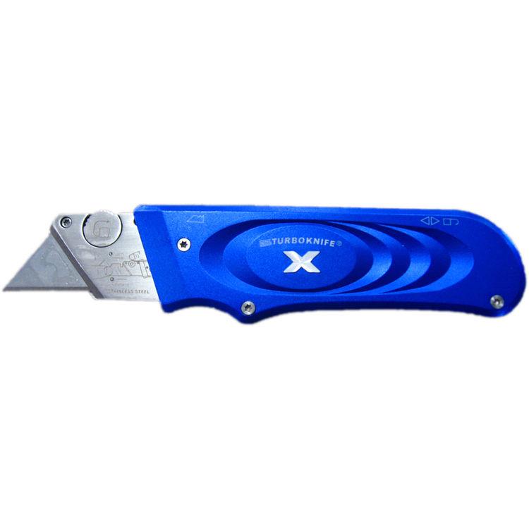 View 3 of Olympia 33-134 TurboknifeX 33-134 Utility Knife, Blue Ergonomic